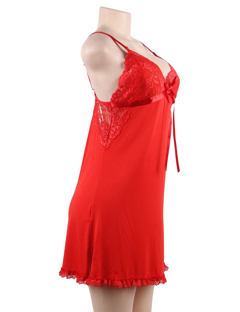 Free Shipping Fashion Red Cotton Sleepwear Women Pajamas
