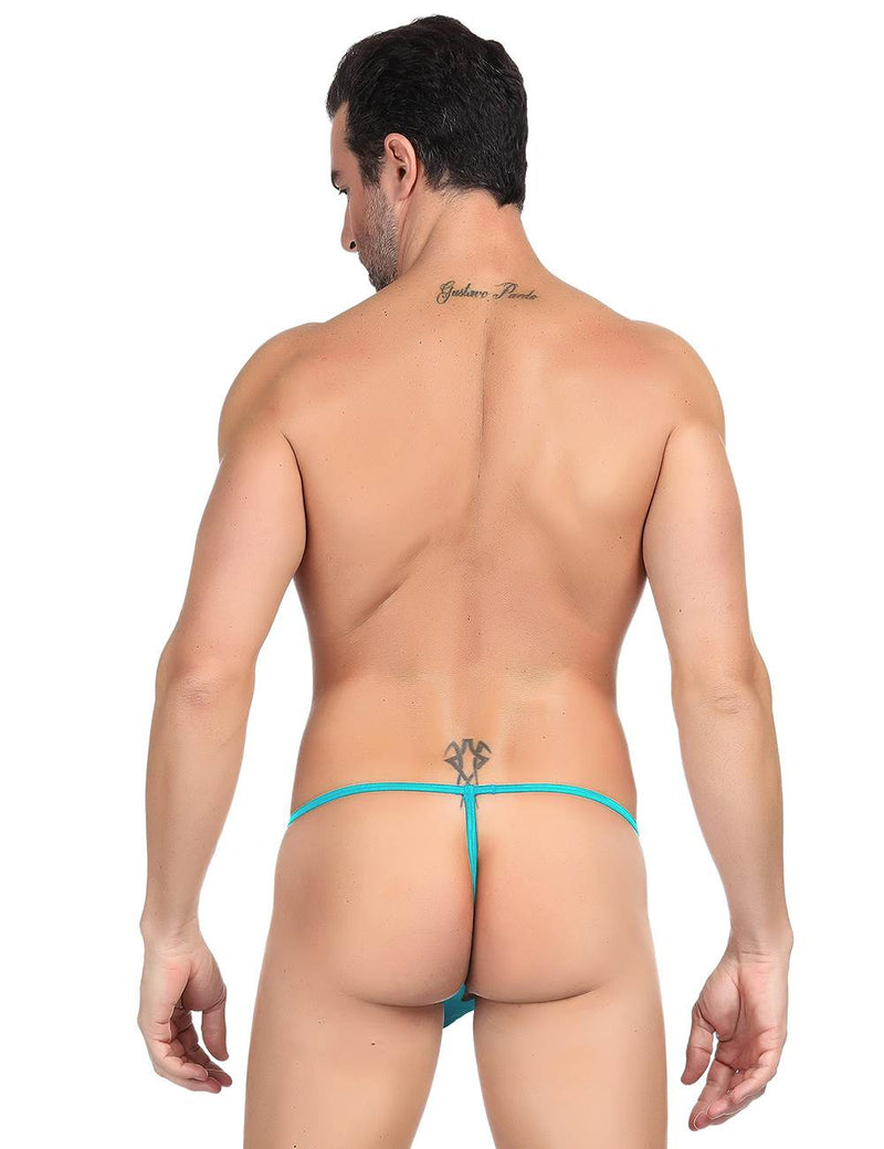 Blue Lace Perspective Male Undergarments G String For Men