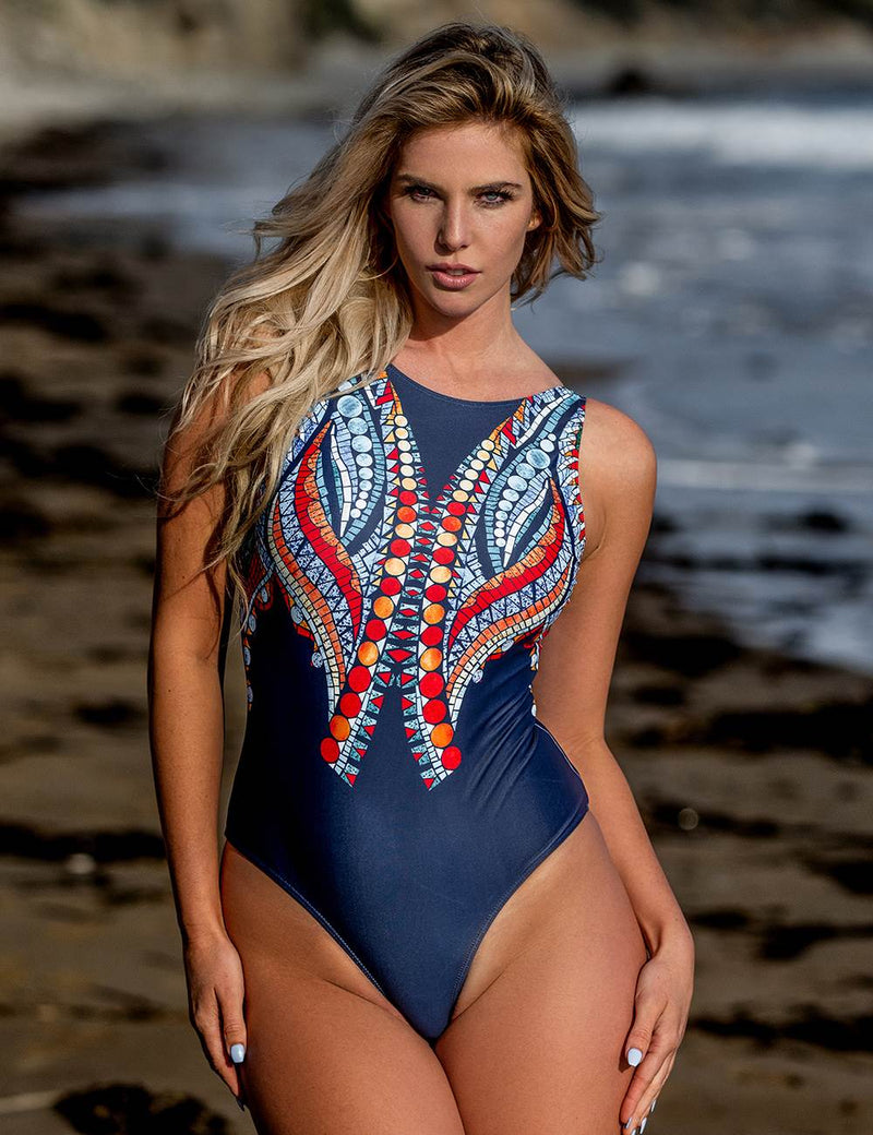 Printed Women Delicate Beach Wear One Piece Swimsuit