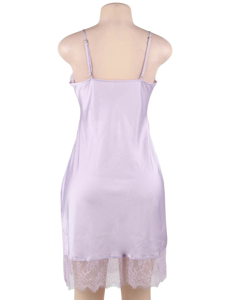 Plus Size Silky Satin Pajama Super Delicate Women Sleepwear