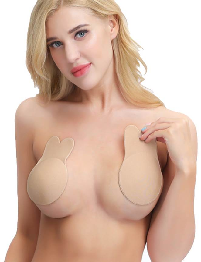 Strapless Rabbit Shape Breast Lift Up Invisible Nipple Covers