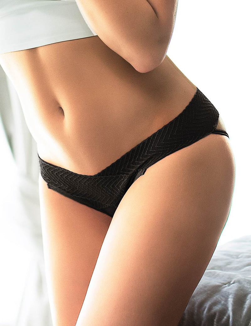 Extreme Sexy Black Hollow Out Open Crotch Women Panties
