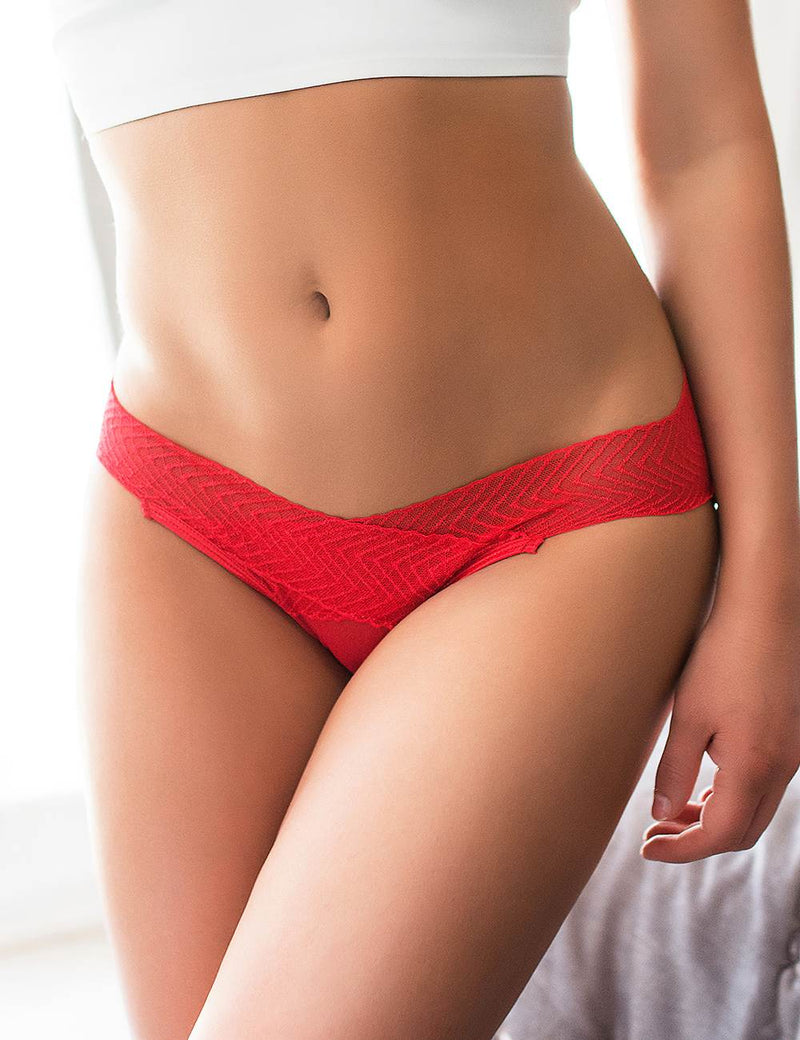 Super Delicate Women Open Crotch Panties Hollow Tanga Briefs