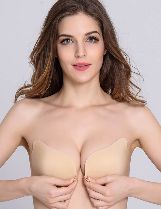 Sticky Nude Color Strapless Sexy Push-Up Invisible Bra