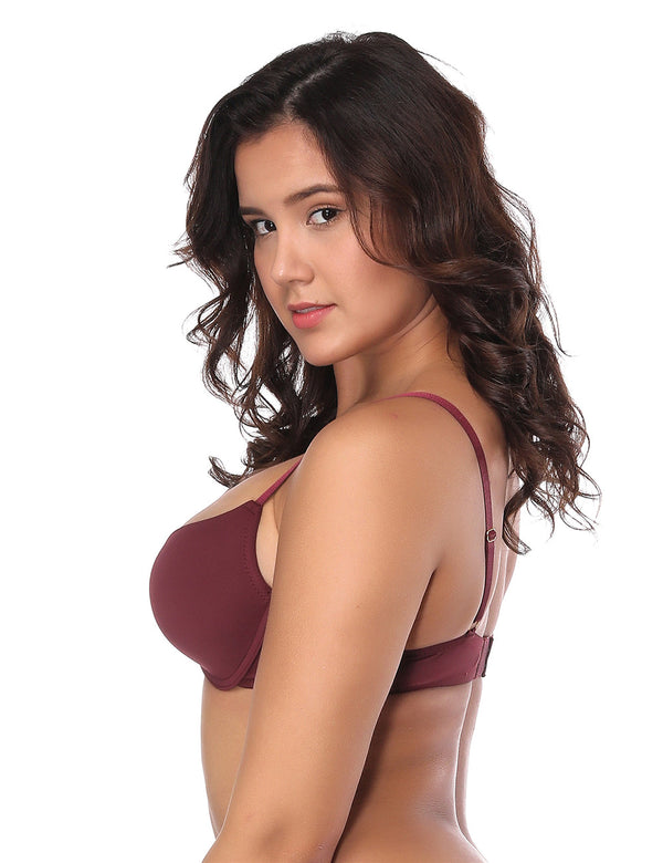 Smooth Seamless T-shirt Push Up Bra Women Fashon Daily Bra