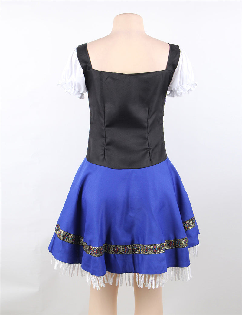 Plus Size Mature Women Uniform Tempting Maid Lingerie Suit Costume