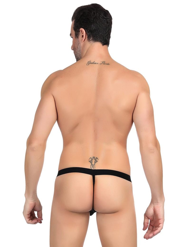Black Sheer Mesh Mens Sissy Panties Stylish G String For Men