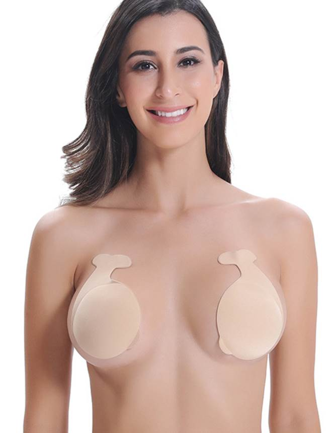 Backless Push-up Bra Invisible Silicone Nipple Covers