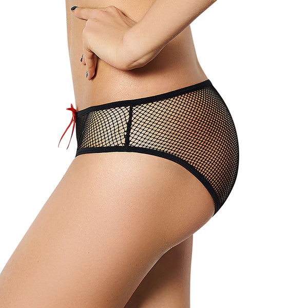 Sexy Black Sheer Mesh See Through Panties Women Underwear