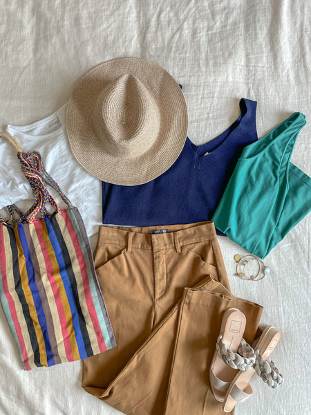 Wide Leg Pants Outfit, Outfit Flatlay, Summer Outfit