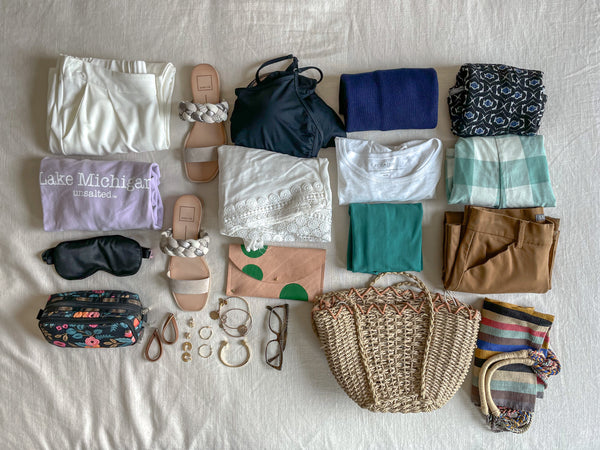 Packing Flat Lay, Summer Vacation, Packing List