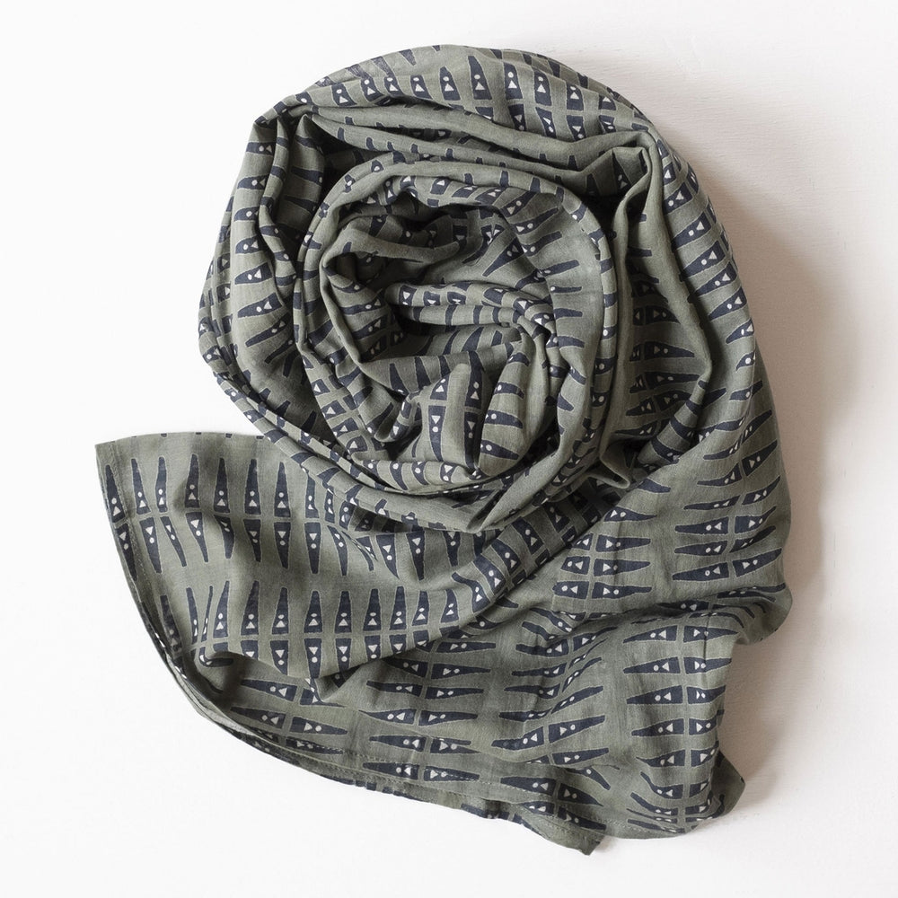 Print Cotton Scarf