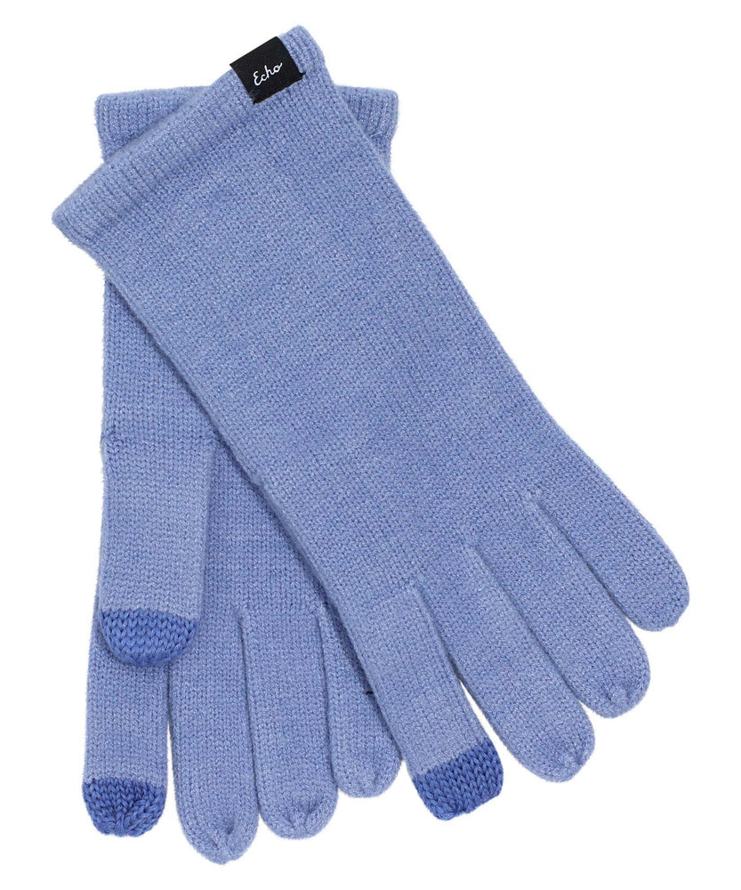Knit Touch Gloves Blue