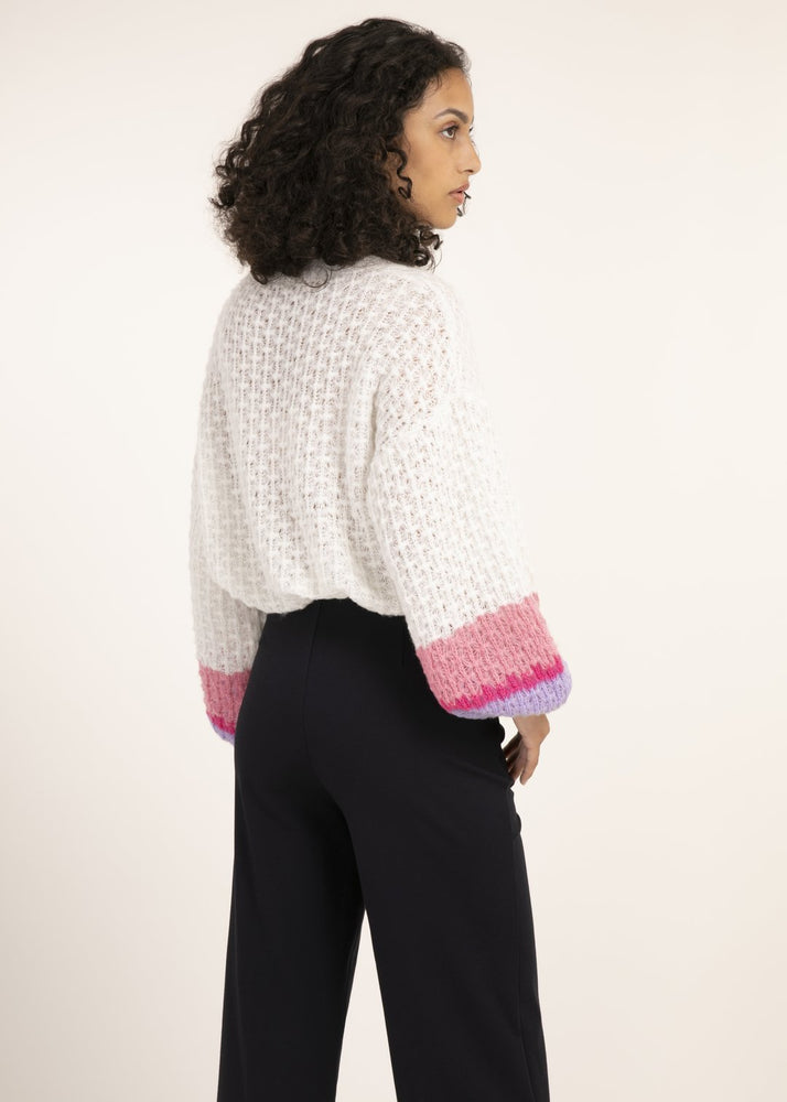 White Bell Sleeve Sweater