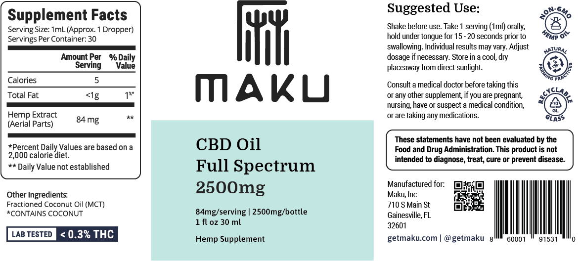 CBD Oil - Learn About The Benefits | Maku – Tagged