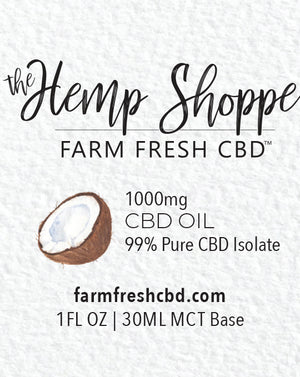 1000MG CBD OIL ISOLATE (THC FREE)