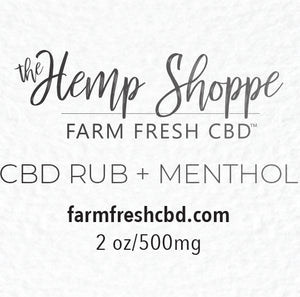 500MG FULL SPECTRUM CBD RUB WITH MENTHOL