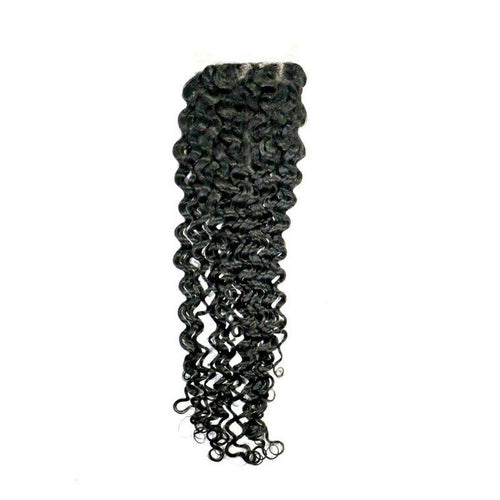 Brazilian Kinky Curly Closure - reine-of-beauty