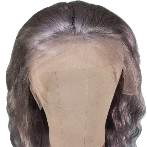 Gray Lace Front Wig - reine-of-beauty