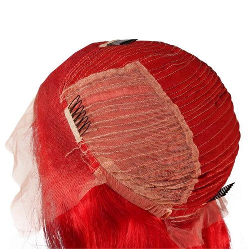 Red Lace Front Wig - reine-of-beauty