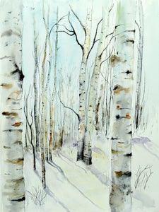 Winter Aspens giclee print  •sold out• please allow up to 10 days for production