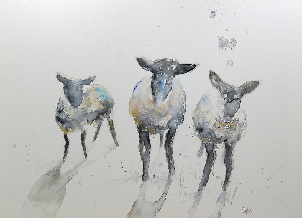 Sheep Trio giclee print