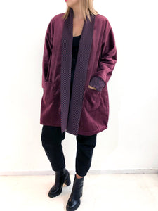 Burgundy Jacket SAMPLE / S-M