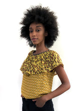 Load image into Gallery viewer, Yellow Ruffle Blouse SAMPLE / XS