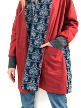 Load image into Gallery viewer, Red Cardigan Jacket