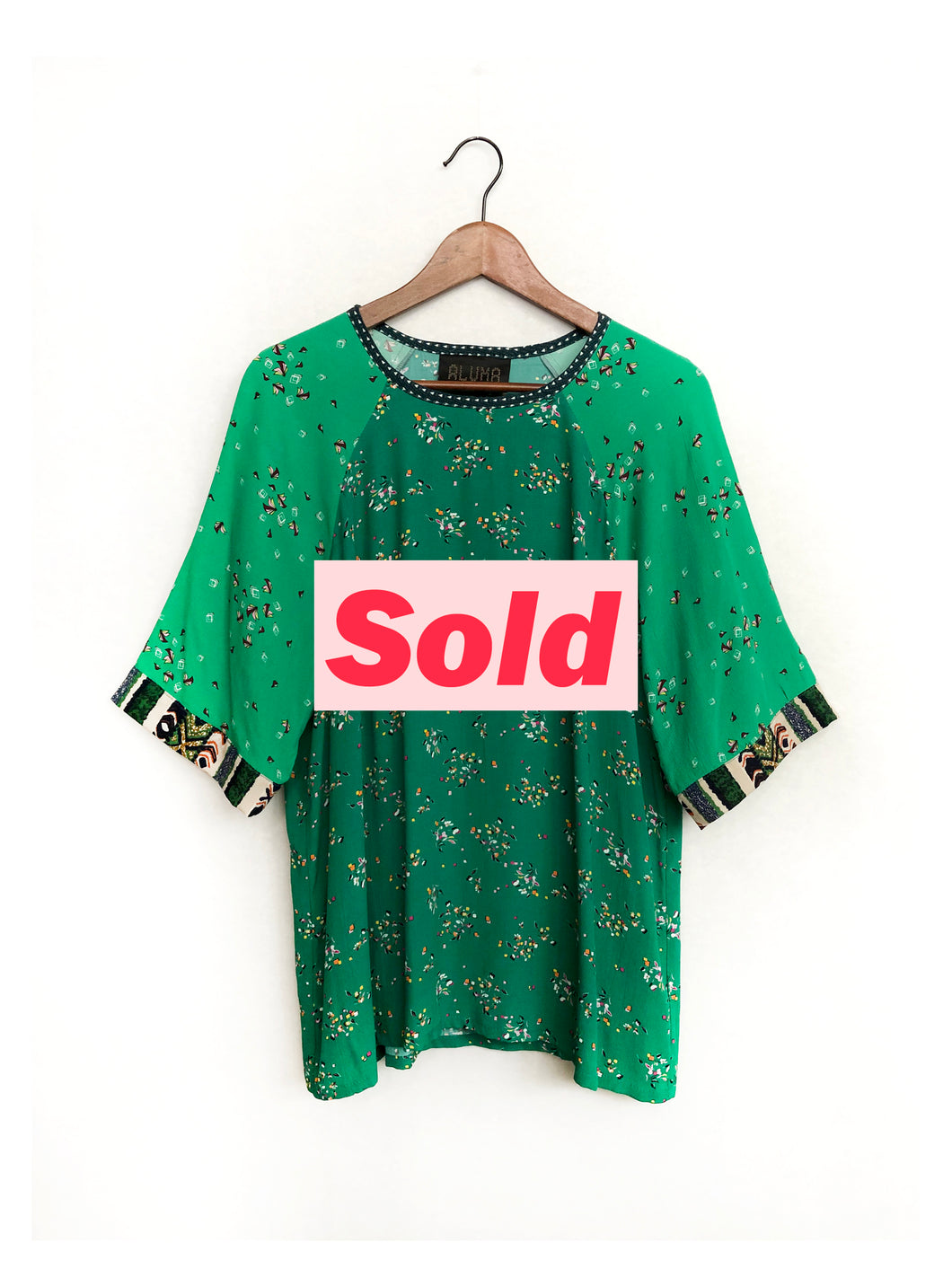Two Green Blouse SAMPLE / M