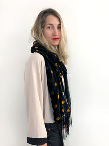 Moon River Silk Velvet Scarf
