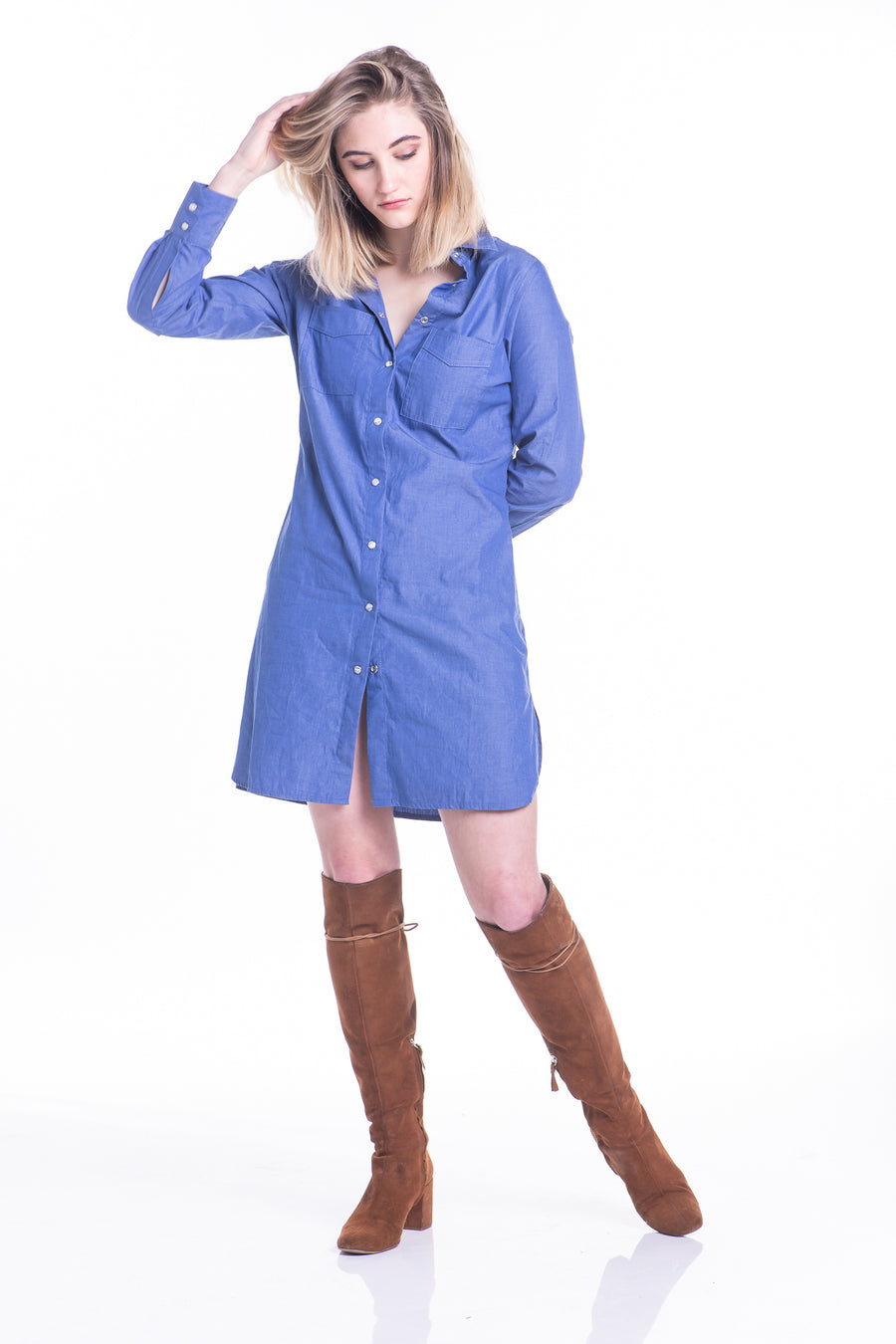 Ladies Denim Shirt Dress