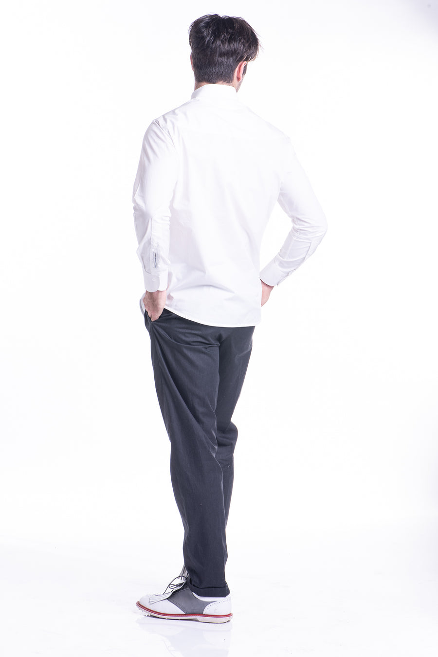 White Round Collar Shirt