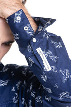Load image into Gallery viewer, Planes Bib Front Shirt in Navy