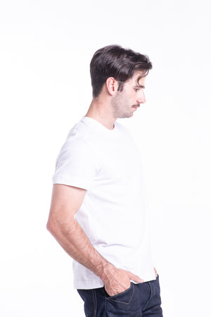 Basic Cotton Tee in White