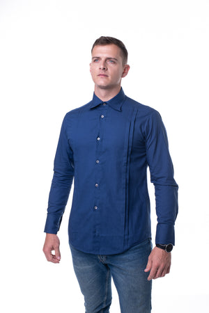 Half Lip Shirt in Navy