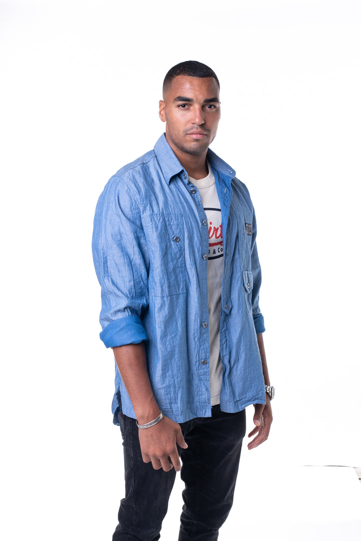 Men's Denim Shirt Jacket