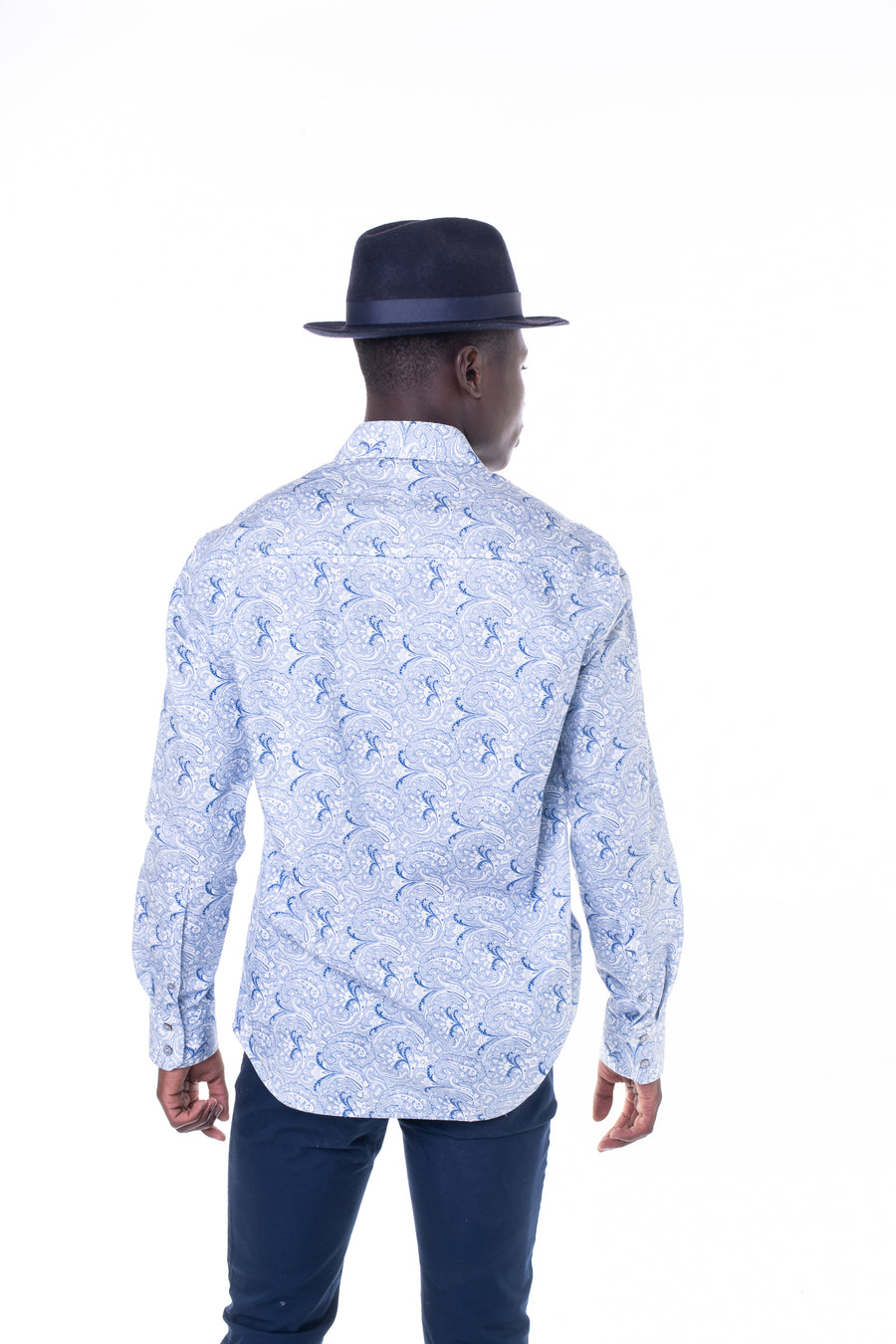 Blue Paisley Basic Shirt