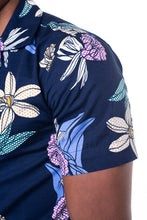 Load image into Gallery viewer, Floral Print Bowling Shirt