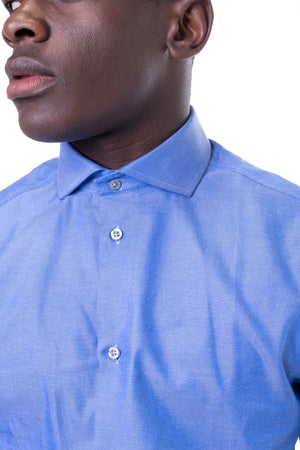 Extreme Cut Away Shirt Blue