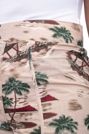Palm Tree Curved Shorts