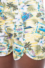 Load image into Gallery viewer, Hawaii Curved Shorts Yellow