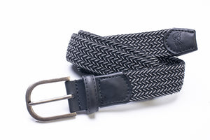 Elasticated Woven Belt in Navy