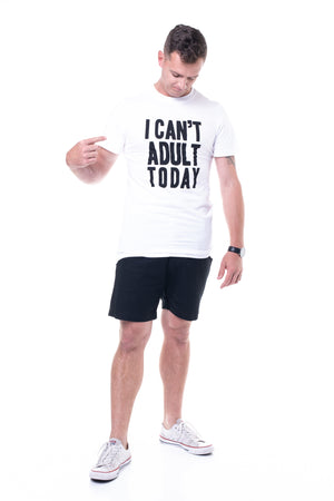I Can't Adult Tee in White