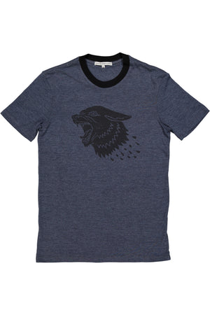 Howling Wolf Tee - Navy