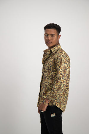 Paisley Shirt - Yellow