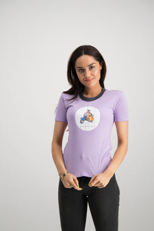 Pin Up Vespa Printed Tee