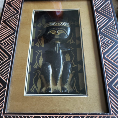 African Accent Figure in Shadow Box