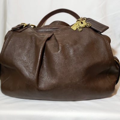 Coach Mia Brown Leather Maggie Shoulder Tote (G1082-15742)