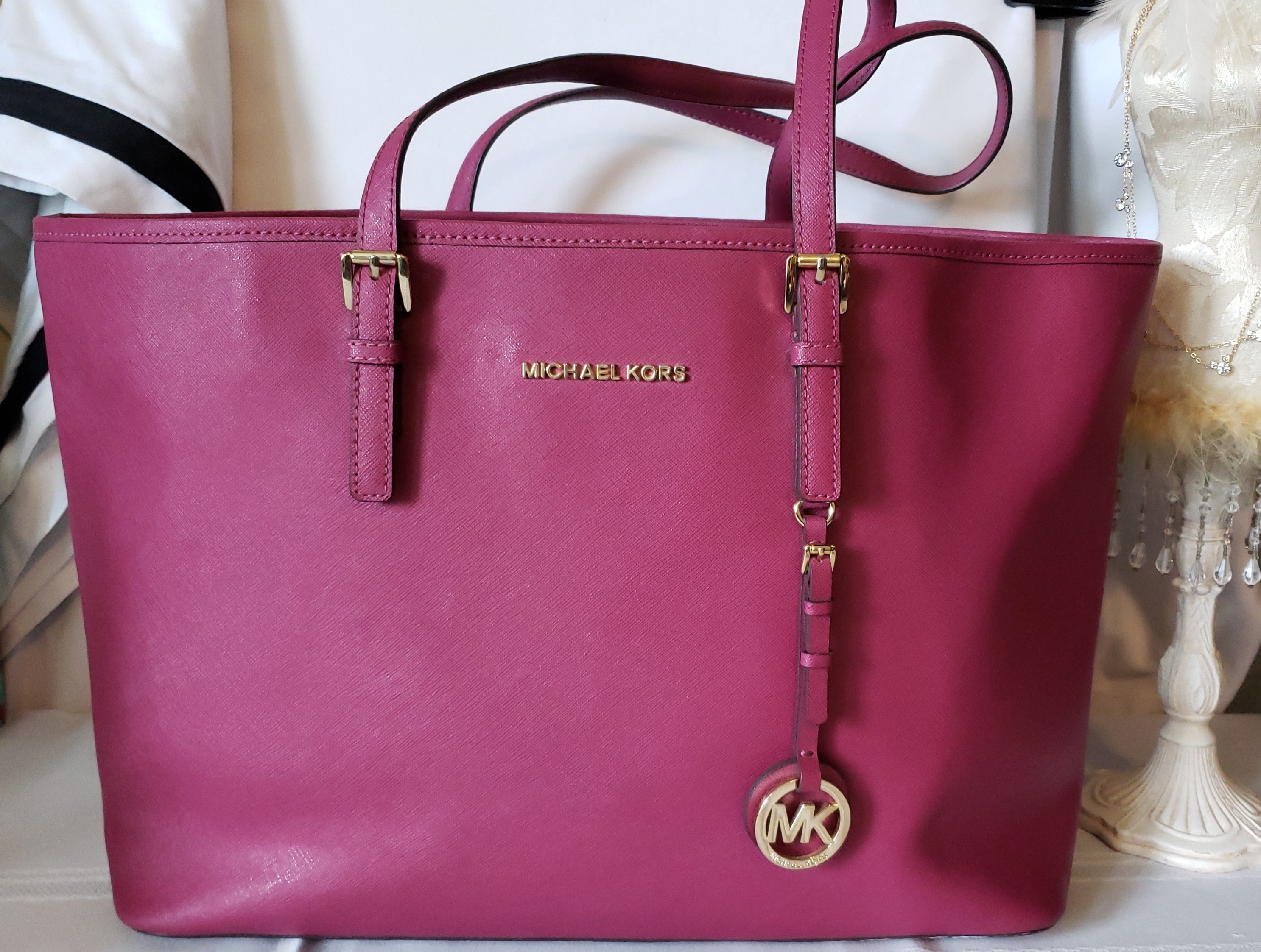 Michael Kors (Replica) Mauve Large Tote (Not Authentic)